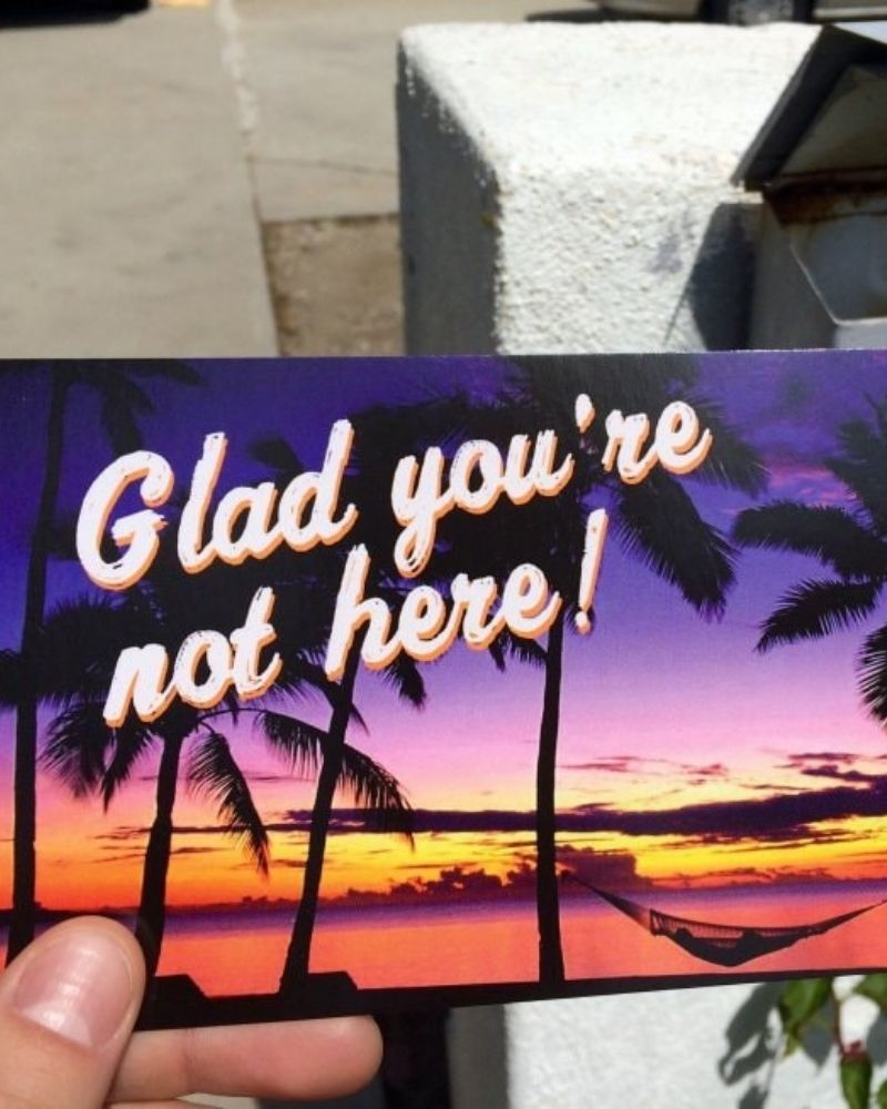 One hilarious breakup note shows how some people spend their vacations