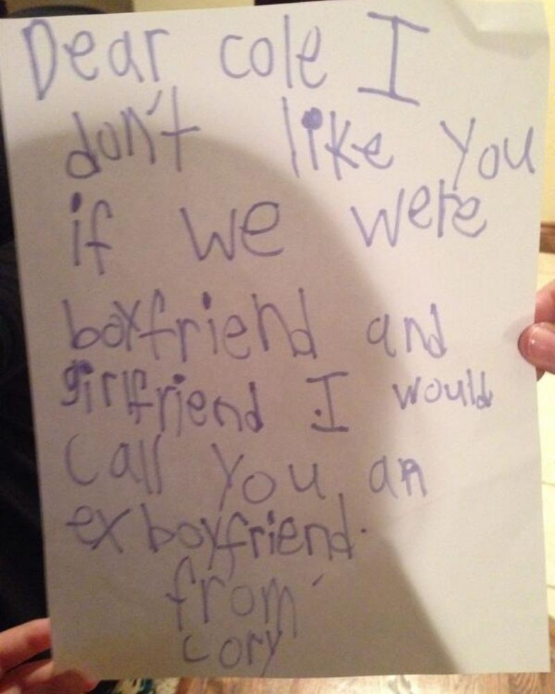 Hilarious breakup notes can be written at any age