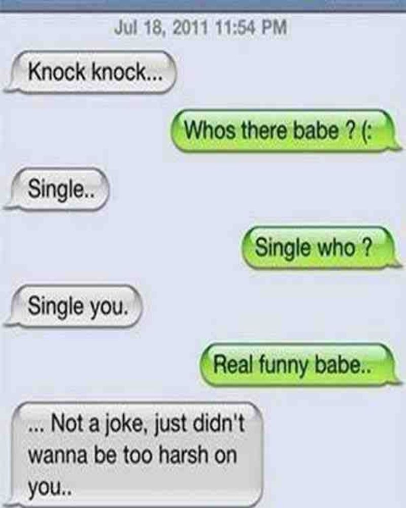 Knock-knock jokes might not be the best way to end a relationship