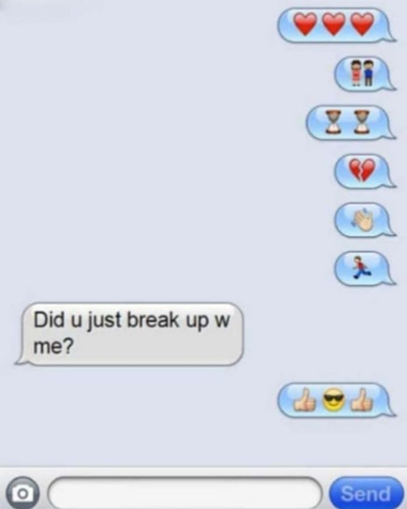 Emojis mean people don't even need words to break up with their partner.
