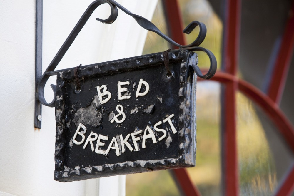 One family had to sneak out of their bed and breakfast to escape