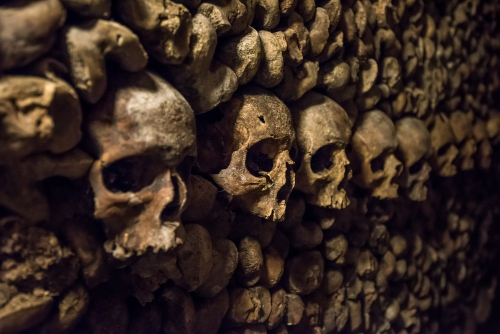 People often try to take bones from the Catacombs in Paris