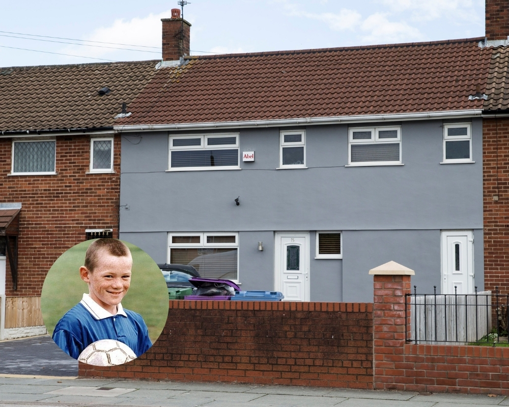 Wayne Rooney grew up in government-funded housing throughout his childhood