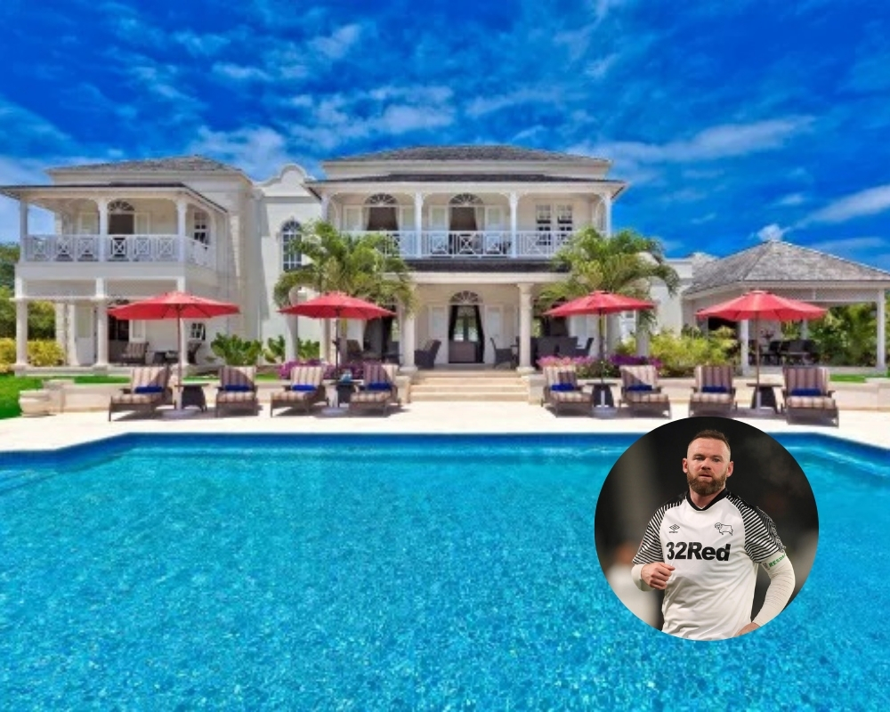 Wayne Rooney rents his Barbados home to the rich and famous
