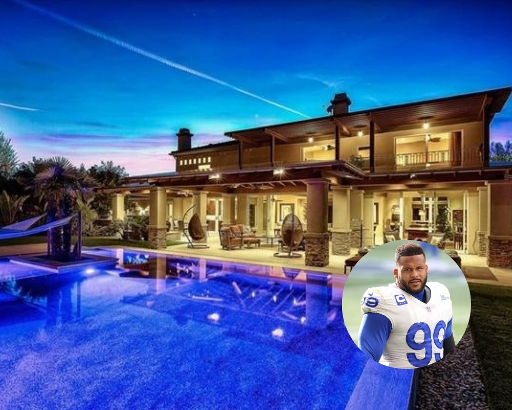 Aaron Donald's LA mansion comes with plenty of outdoor space